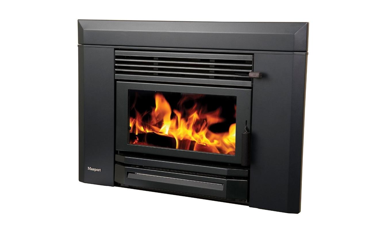 Masport LE4000 Inbuilt Wood Fire Wide Fascia